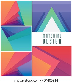 Colorful material design wallpaper patterns set