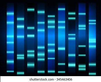 colorful medical dna results with black background