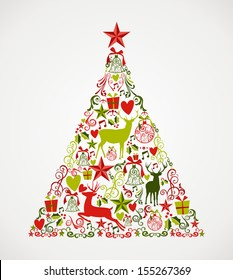 Abstract Christmas Tree Images Stock Photos Vectors Shutterstock