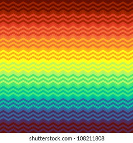Colorful mexican blanket zigzag chevron seamless background, vector