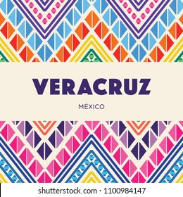 Colorful Mexican Embroidery Style Composition – Copy Space