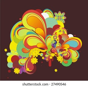colorful modern abstract design,vector
