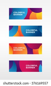 Colorful modern banner