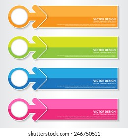 The Colorful Modern Banner, Vector Work