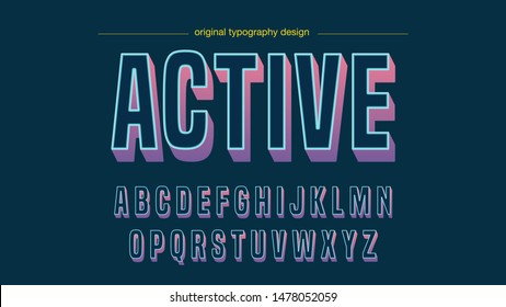 Colorful Modern Bold Typography Artistic Font