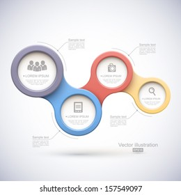 Colorful modern business circles.