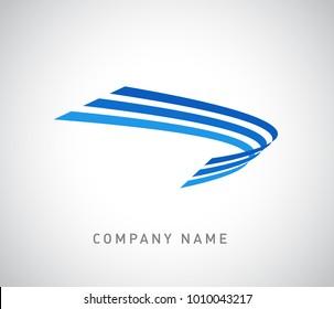 Colorful, modern, creative logo design template.