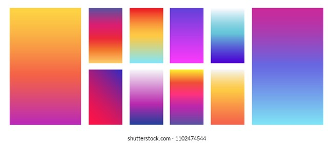 Colorful modern gradient soft backgrounds for mobile screen, user interface, website design, wallpaper, flyers, bannes, placard, poster, cards etc. Vector design