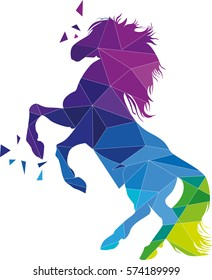 Colorful Modern Horse Logo