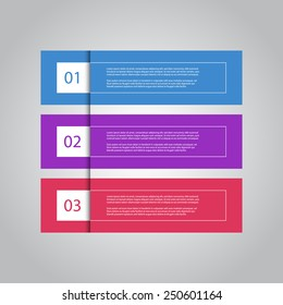 Colorful modern numbered banners, can be used for for tutorial / advertising / infographics.