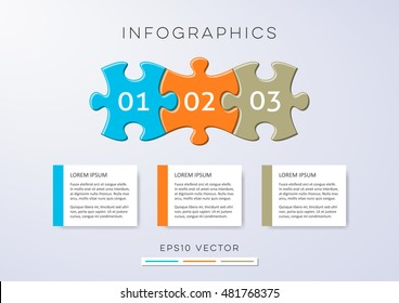 Colorful modern options banners infographic vector design puzzle