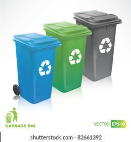 colorful Modern Recycle Bins