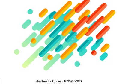 Colorful modern style abstract graphic with composition from various rounded shapes