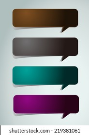 colorful modern text box template for website computer graphic and internet, numbers. label. speech bubble.