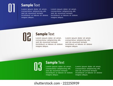 colorful modern text box template for website computer graphic and internet, numbers. label.