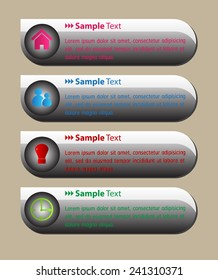 colorful modern text box template for website computer graphic and internet, numbers