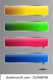 colorful modern text box template for website computer graphic technology and internet, numbers. speech bubble