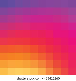 Colorful mosaic gradient color background. Inspired by instagram new logo 2016.