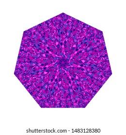 Colorful mosaic heptagon shape - geometrical ornamental heptagonal vector design element with geometric shapes