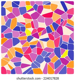 Colorful mosaic pattern. Vector background.