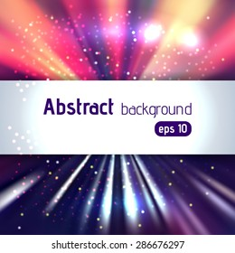 Colorful motion abstract background with place for text, vector illustration