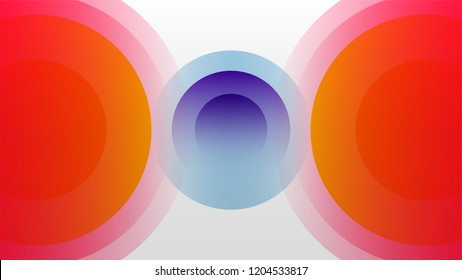 Colorful motion cycle sound wave abstract vector background