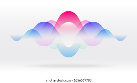 Colorful motion sound wave abstract vector background