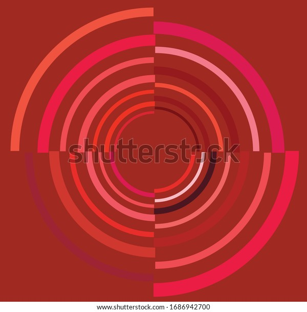 colorful, multicolor and monochrome cyclic, cycle concentric ring. revolved spiral, vortex, whorl. abstract circular, radial loop shape, element over colored backdrop, background