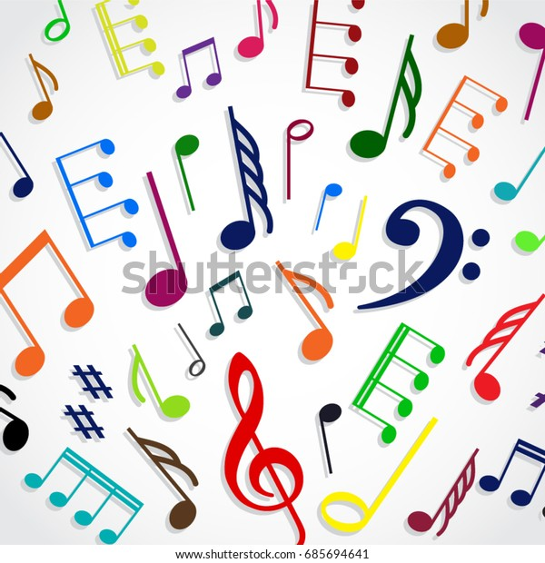 Musical Notes Clipart Clear Background - Colorful Music Note Png, Cliparts  & Cartoons - Jing.fm