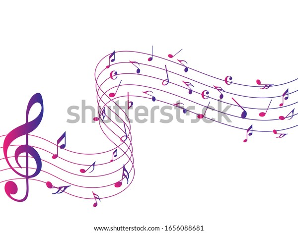 Music Background With Colorful Music Notes Vector Illustration.. Royalty  Free Cliparts, Vectors, And Stock Illustration. Image 119463807.