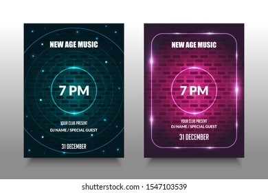 Colorful Music Poster with Sound Spectrum. The background with is suitable for creating a banner, poster, catalog for music event
