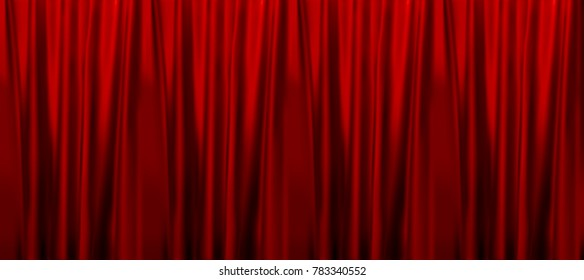 Colorful naturalistic Gradient Red curtains. seamless pattern. Vector Illustration. EPS10