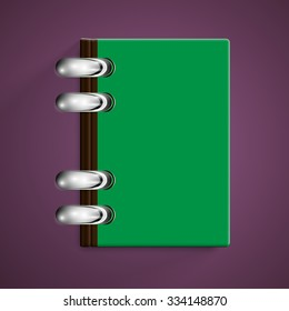 Colorful notebook, vector