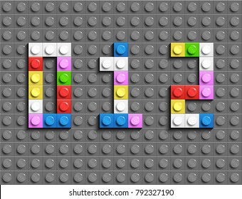 Colorful numbers from building bricks