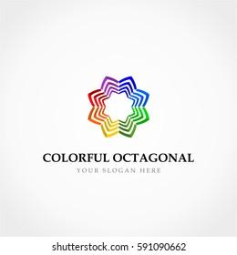 Colorful Octagonal Flower Logo