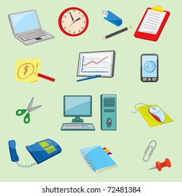 Colorful Office and Business icons