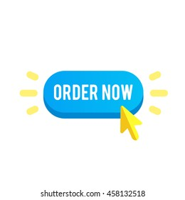 Colorful order now button. Design elements for mobile and web applications. Order now button in stylish colors for your web shop. Order now button vector illustration. Order now button eps10.
