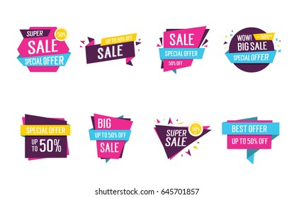 Colorful origami sale lettering set
