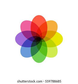 Colorful Overlapping Abstract Symbol