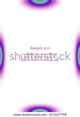 Colorful Page Border Design Template Invitation Stock Vector