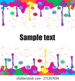 Colorful paint background for text vector illustration