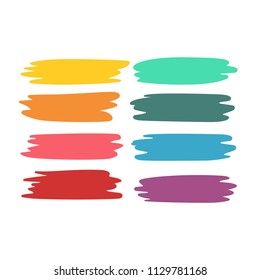 Colorful paint brush set