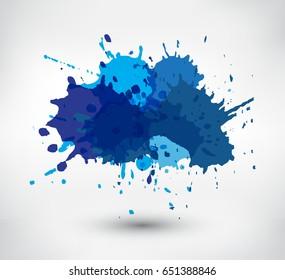 Colorful paint splatters.Paint splashes banner.