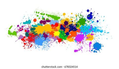 Colorful Paint of paint. Vector