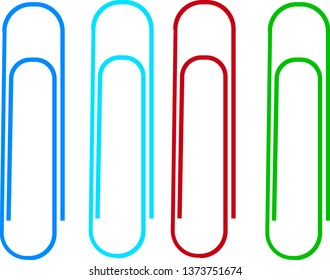 Colorful paper clips vector icon set