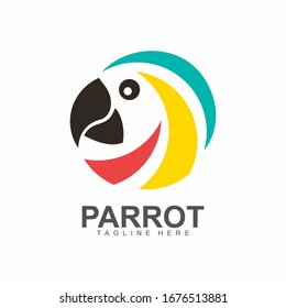 Colorful Parrot Macaw Logo Symbol
