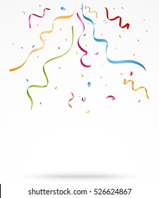Colorful party confetti o white background