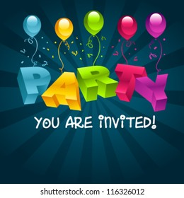 Party invitation images stock photos vectors shutterstock colorful party invitation card stopboris Images