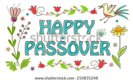 Colorful passover sign floral banner happy stock vector royalty colorful passover sign floral banner with happy passover text in the center eps10 m4hsunfo