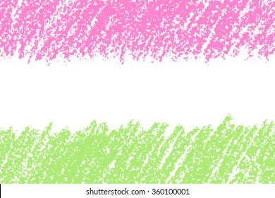 Colorful pastel chalk crayon hand drawing copyspace. Banner seamless background. Vector chalk lines.